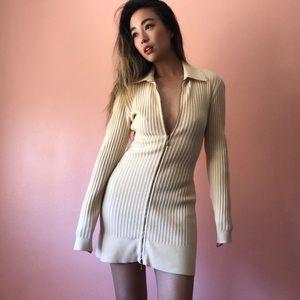 🏹HP🏹 Vintage Alaïa Knit Zip Mini Dress